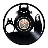 Studio Ghibli Vinyl Record Wall Clock - Get unique Living room wall decor - Gift ideas for kids, children, teens – Animated Film Unique Art