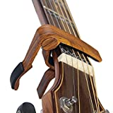 Rinastore 6-String Acoustic & Electric Guitar Capo- Single Handed Quick Change Capo (MA-12-D)