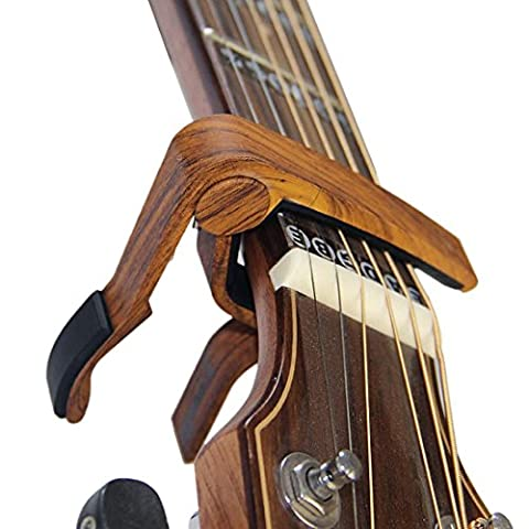 6-String Acoustic & Electric Guitar Capo- Single Handed Quick Change Capo (MA-12-D) - Electric Guitar Necklace Jewelry
