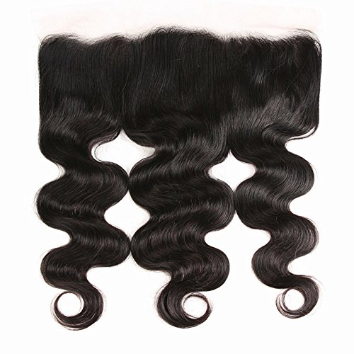 10 InchFree Part Ear To Ear 13x4 Body Wave Lace Frontal Closure, 9A Unprocessed Peruvian Virgin Best Human Hair Extensions Lace Frontal ClosuresTop Natural Color(10 Frontal)