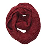 Wrapables Thick Knitted Winter Warm Infinity Scarf - Burgundy