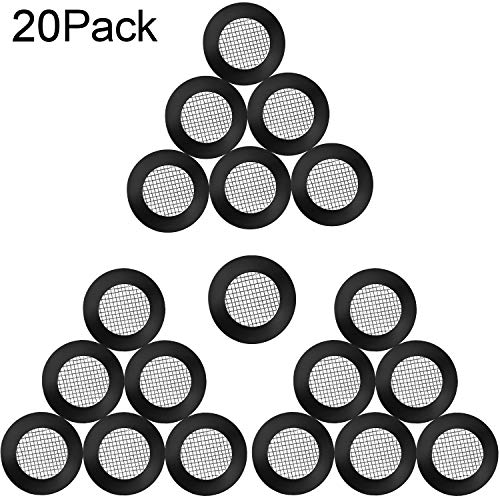 (20 Pieces Seal O Ring Hose Gasket Filter Net Shower Head Stainless Steel Gasket Rubber Washer with 40 Mesh for 1/2 Inch Shower Hose Heads)