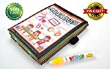 Water Activity Books Magic Water Drawing Coloring Painting Doodle Cloth Book for Toddlers with Water Pen and Gift (Alphabet)