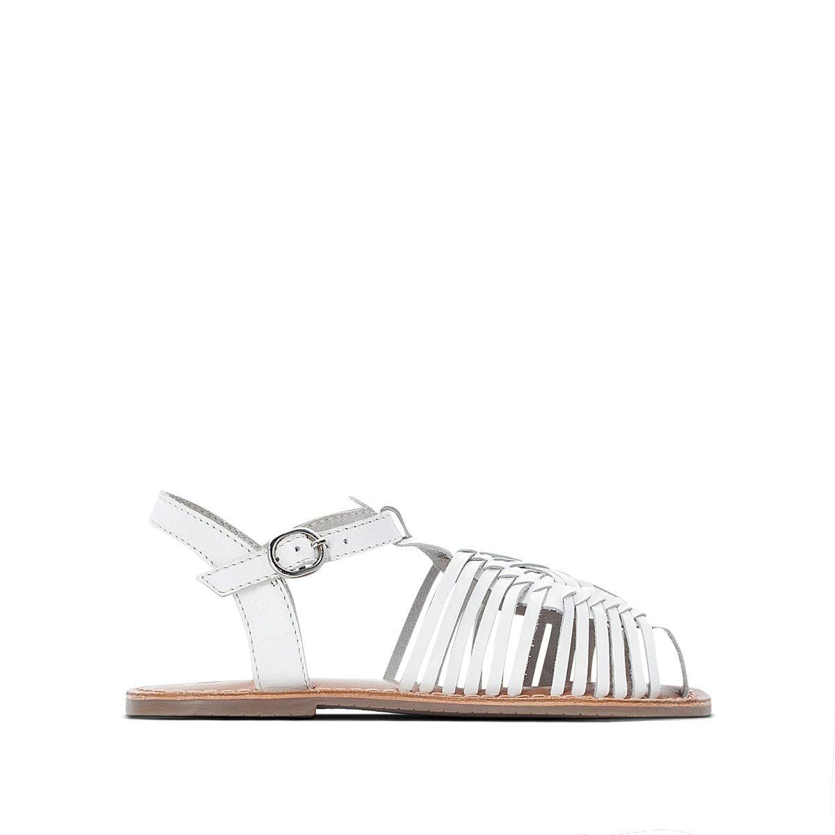 La Redoute Collections Big Girls Plaited Leather Sandals