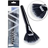 Premium Quality Professional Make Up Artists Cosmetics Wooden Handle Synthetic Hair Fan Brush By VAGA