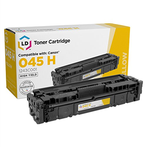 LD Compatible Toner Cartridge Replacement for Canon 045H 1243C001 High Yield (Yellow)