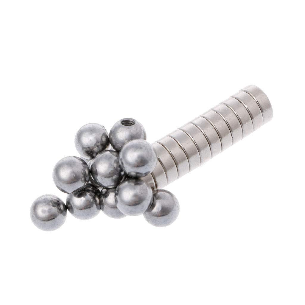 jenor 12pcs Tornillo Ball + Redondas Soporte Magnético para ...