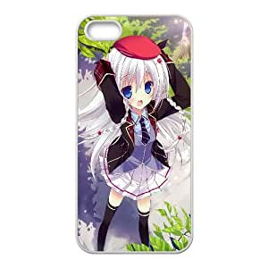 Fashionista Schoolgirl Anime1 iPhone5s Cell Phone Case White gift pp001_6404706