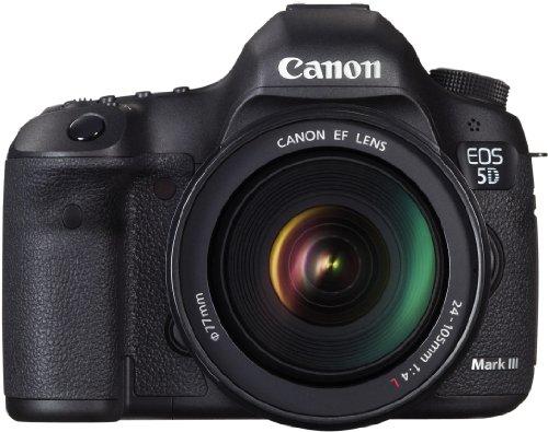 Canon EOS 5D Mark III SLR-Digitalkamera (22,3 Megapixel, 8,1 cm (3,2 Zoll) Display, HDR-Modus, DIGIC 5+ Prozessor) inkl. Kit 24-105mm Zoomobjektiv