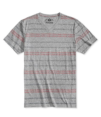 New Mens American RAG Gray Pale Waters RED Navy Striped V-Neck T-Shirt Size M from AMERICAN RAG CIE
