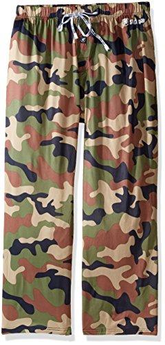 Spandex Pant Sleep (Stacy Adams Men's Big and Tall Sleep Pant Camo, Army Green, 4XL)