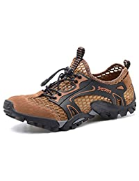 W.H.S Men's Shoes Breathable Hiking Shoes net Shoes Outdoor Leisure Sandals Walking Shoes