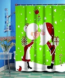 Amazon.com: Carnation Homes Kissing Santa Christmas Fabric