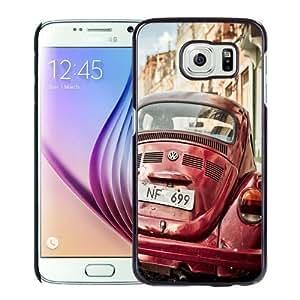NEW Unique Custom Designed Samsung Galaxy S6 Phone Case With Retro Volkswagen Beetle_Black Phone Case