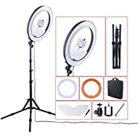 Camera Photo/Studio/Phone/Video RL-18 55W 240 LED Ring Light 5500K Photography Dimmable Ring Lamp with Mirror & Tripod