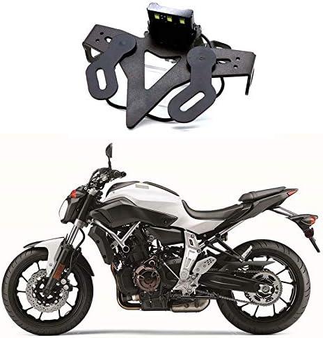 Adanse Support de Plaque DImmatriculation D/éLiminateur de Garde-Boue de Moto pour MT 07 MT-07 FZ 07 FZ-07 2013-2019