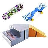 WFPLUS Skate Park Kit Ramp Parts for Tech Deck Circuit Board Mini Finger Skateboard Fingerboards Ultimate Parks