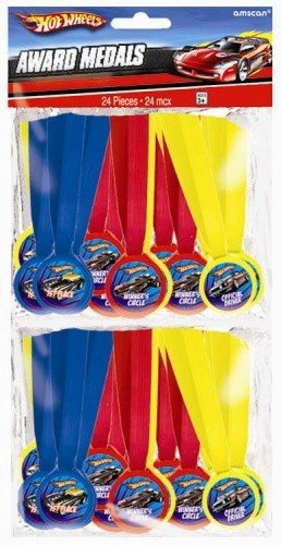 Amscan Hot Wheels Speed City 13'' x 1/2'' Mini Award Medals, 24-Count by Amscan