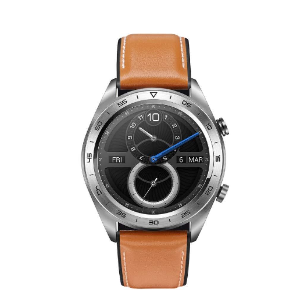 Ljnuanrg 1.2 inch AMOLED Dream Smart Watch,Lightweight Design/One Week Battery Life/50 Meters Waterproof/AMOLED Color Screen/GPS/NFC Payment/Smart Reminder (Brown)