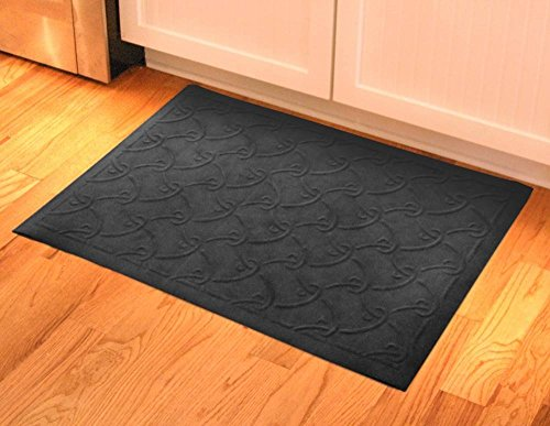 23 in. L x 35 in. W Charcoal Soft Impressions Fish Hook Floor Mat