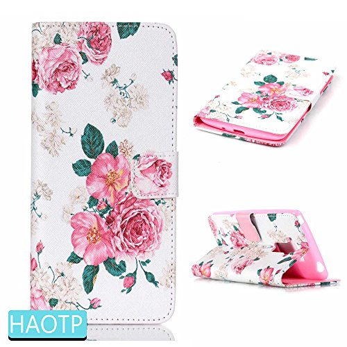 Lily Cell Phone Snap (LG G Stylo/LG G4 Stylus (LS770) Case,HAOTP(TM) Beauty Luxury Fashion PU Flip Stand Credit Card ID Holders Wallet Leather Case Cover for LG G Stylo/LG G4 Stylus (LS770)(Rose Flower))
