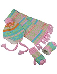 Little Girls and Infants Sherpa Lined Knitted 3 PC Set...