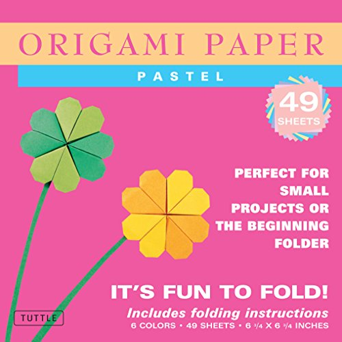 Origami Paper - Pastel Colors - 6 3/4