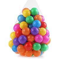 Ocean Ball - Kids Colorful Swimming Pool Ocean Wave Balls Children Bathing Toys, Mixed Color Non-toxic Development Toy Soft Lightweight, by Ashnna. (50Pcs)