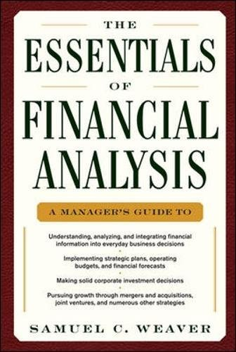 The Essentials Of Financial Analysis  General Finance   Investing