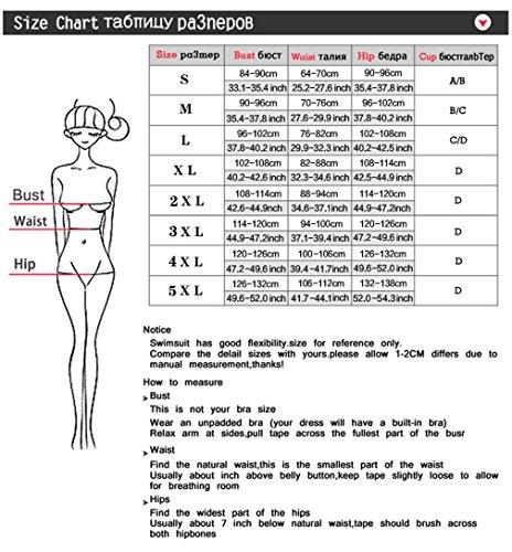 Vita Bikini A C Costumi Floreale Alta Donna Da Strisce Bagno A Motivo Costumi Righe Donna Bagno Righe A Con Stampa Bikini LCWORD A XL Da TYqw4Tt