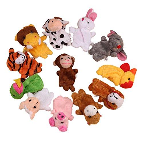 Goat Finger Puppet (TRENDINAO 12Pcs Chinese Zodiac Animal Soft Finger Puppet Toys Plush Toys for Kids Toddlers Educational)