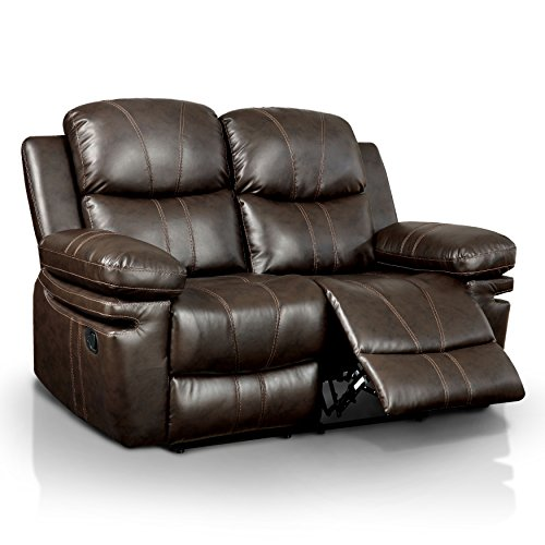 HOMES: Inside + Out Leon Reclining Living Room Love Seat, Brown