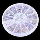 Accessories for beautiful nails 3D New Hot Nail Art Rhinestones Glitters Acrylic Tips Decoration Manicure Wheel#7