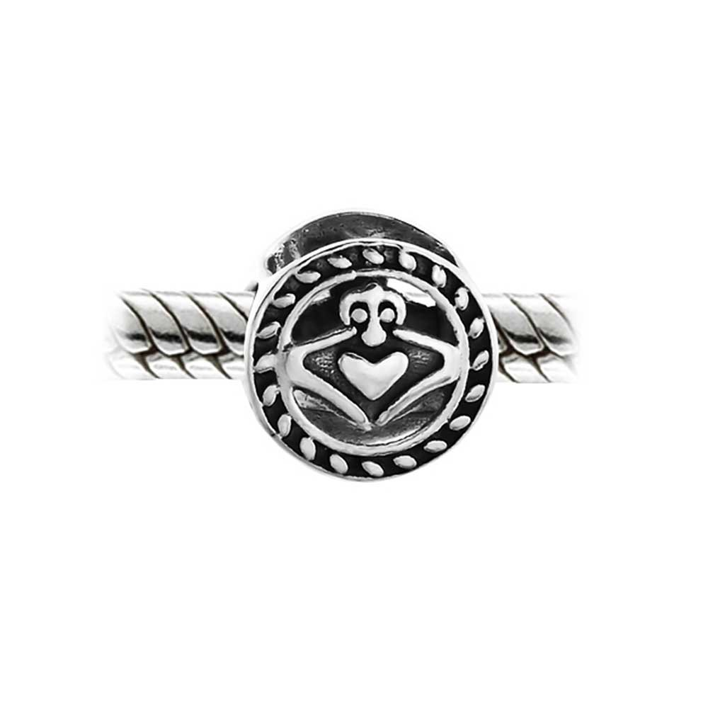 5a9cf4edf Amazon.com: Celtic Knot Claddagh Irish Friendship Round Circle Charm Bead  For Women Teens 925 Sterling Silver Fits European Bracelet: Bead Charms:  Jewelry