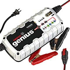 NOCO Genius smart battery chargers are some of the safest and most advanced on the market. One of our best, the G26000 26 Amp is designed to charge 12-volt and 24-volt lead-acid and lithium-ion batteries up to 500Ah. It can also effectively m...