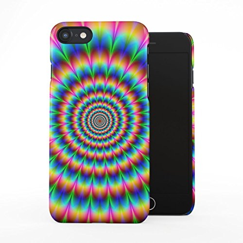 Trippy Acid Trip Psychedelic Swirly Colors Optical Illusion Plastic Phone Snap On Back Case Cover Shell Compatible with iPhone 7 & iPhone 8 ()
