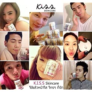 K.I.S.S Whitening Collagen Cream Mask Whitening Collagen Cream Mask Apply a thick mask over the face and neck. Overnight. And wash thoroughly after awakening in the morning. You can feel the skin smooth and soft from the first use.
