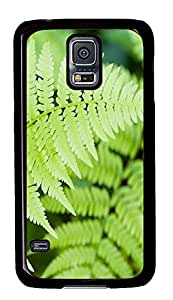 make Samsung Galaxy S5 cases Horizontal Leaf PC Black Custom Samsung Galaxy S5 Case Cover