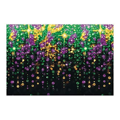 Fun Express Mardi Gras Party Decoration Beads Galore Backdrop