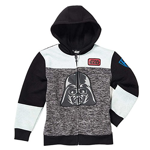 r Little Boys Fleece Zip Up Hoodie (4T) (Darth Vader Life)