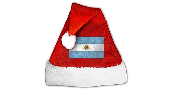 Bandera de Argentina arte moda decoración Navidad Santa Claus sombreros rojo para adultos y niños: Amazon.es: Hogar