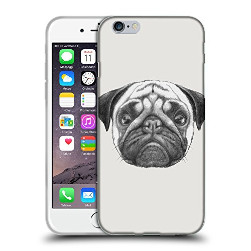 "GoGoMobile Coque de Protection TPU Silicone Case pour // Q05440631 Chien pug Platine // Apple iPhone 6 PLUS 5.5"""