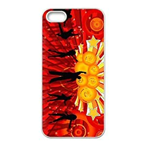 Protective TPU cover case vector 1003029 iPhone 4 4s Cell Phone Case White