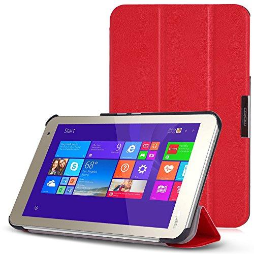 MoKo TOSHIBA Encore 2 WT8-B32CN / B64CN Case - Ultra Slim Lightweight Smart-shell Stand Cover Case for TOSHIBA Encore WT8-B32CN / B64CN 8 Inch Windows 8.1 Tablet, RED