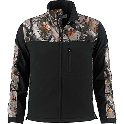 Legendary Whitetails Mens Hurricane Softshell Jacket (Onyx, (Shell Hurricane)