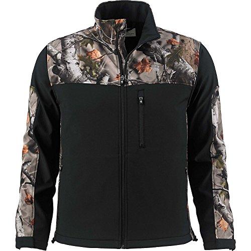 Legendary Whitetails Mens Hurricane Softshell Jacket (Onyx, Medium) - Onyx Shell Jacket