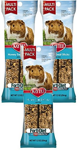 (3 Pack) Kaytee Forti-Diet Pro Health Guinea Pig Honey Stick Value 7.2 (Honey Treat Guinea Pig)