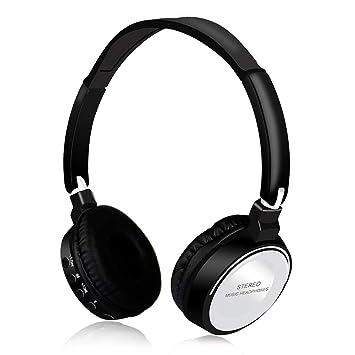 Amiubo Auriculares Bluetooth Micrófono inalámbrico de Alta fidelidad inalámbrico para Auriculares Sobre la Oreja