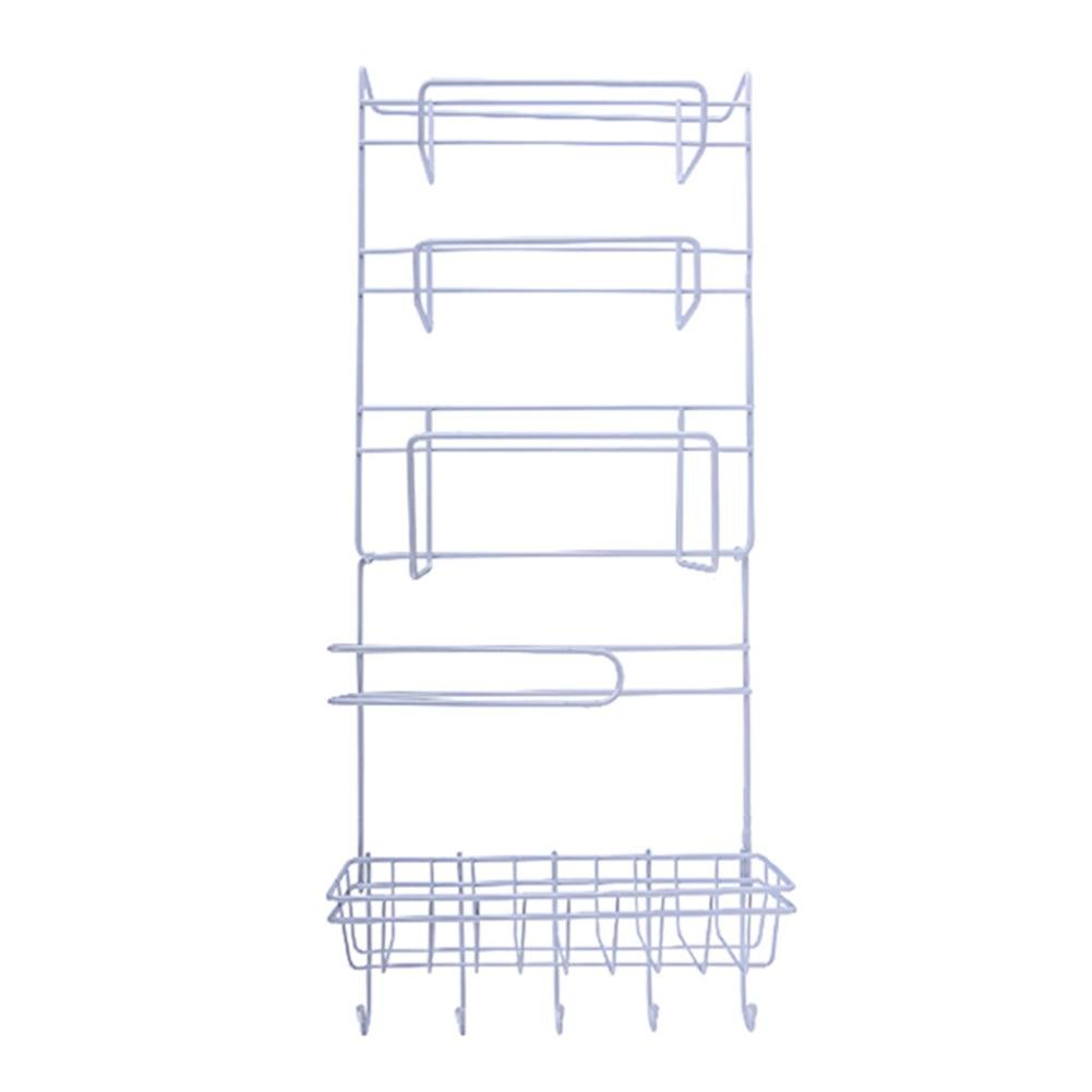 Matefield Multi-function Fridge Wall Hanging Storage Rack Sidewall Multi-layer Shelf