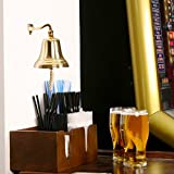 bar@drinkstuff Brass Last Orders Bell Small 3.5inch/90mm Small Brass Bell - Ships Bell, Pub Bell, Wall Mountable Bell - Ideal for Pubs & Home Bars